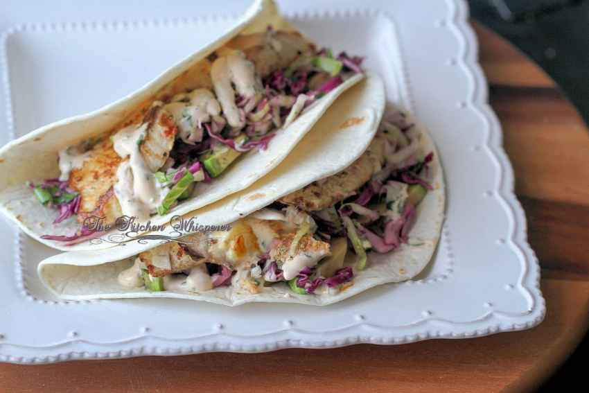 Grilled Fish Tacos with Baja Cream Sauce10