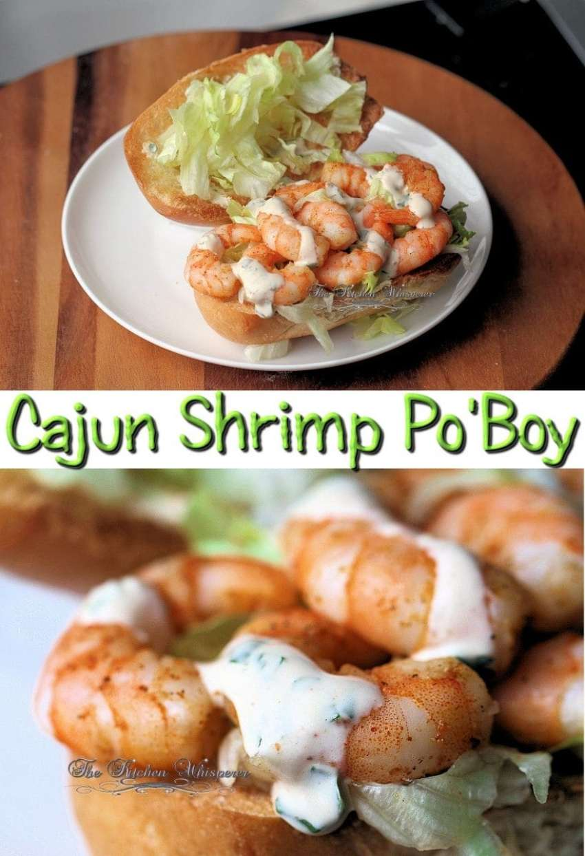 Shrimp Po Boy Collage