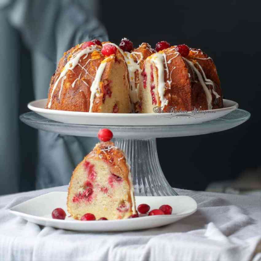 Swirled Orange Cheesecake and Cranberry Orange Bundt Cake1