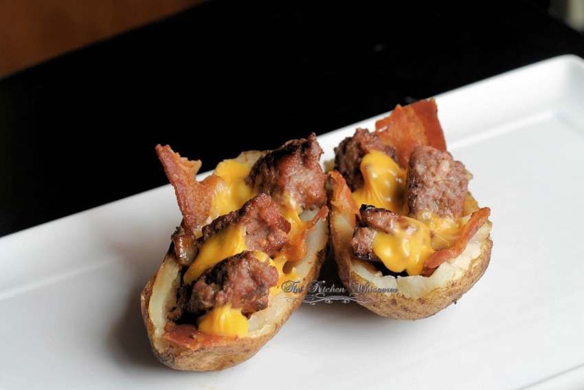 Bacon Cheeseburger Stuffed Potatoes5