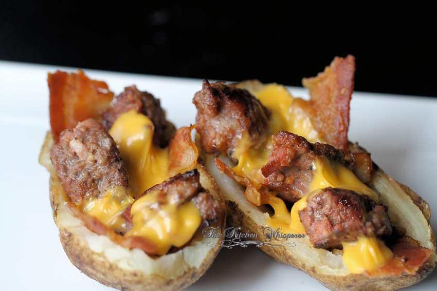 Bacon Cheeseburger Stuffed Potatoes6