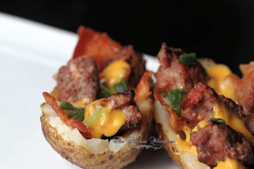 Bacon Cheeseburger Stuffed Potatoes9