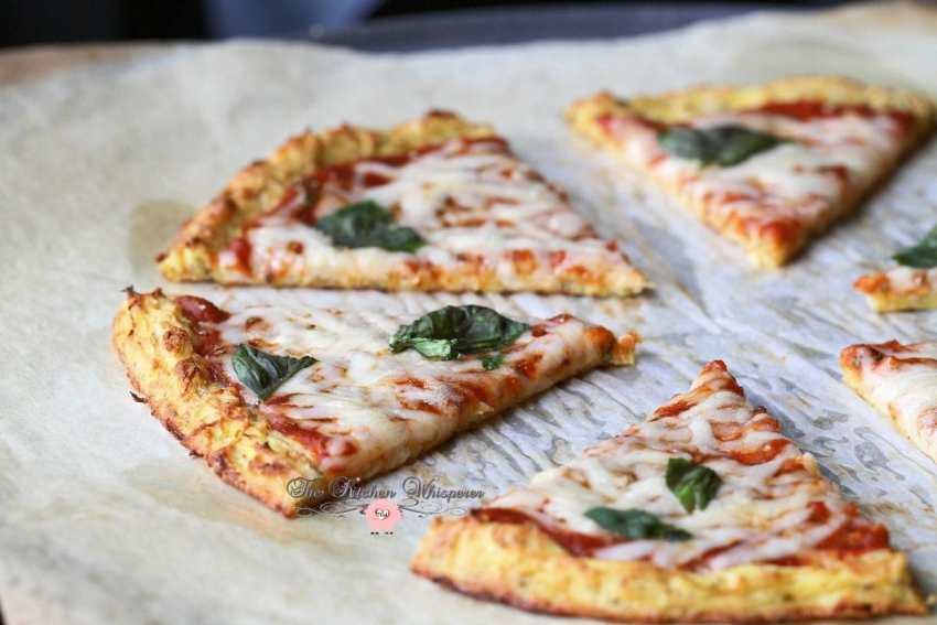 Cheesy Spaghetti Squash Crust Pizza5