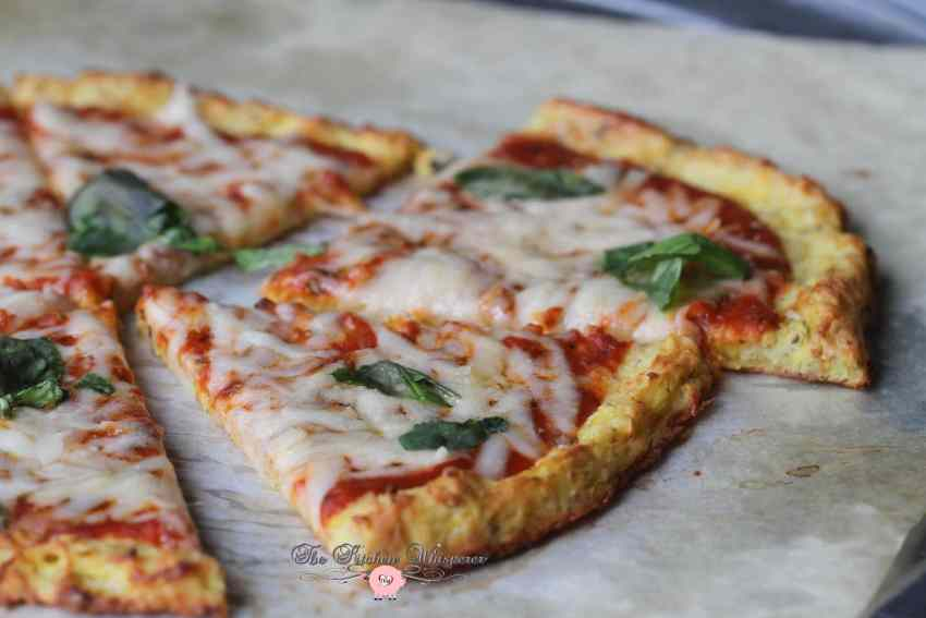 Cheesy Spaghetti Squash Crust Pizza6