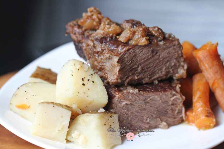 Pressure Cooker Beef Short Ribs Taters Carrots
