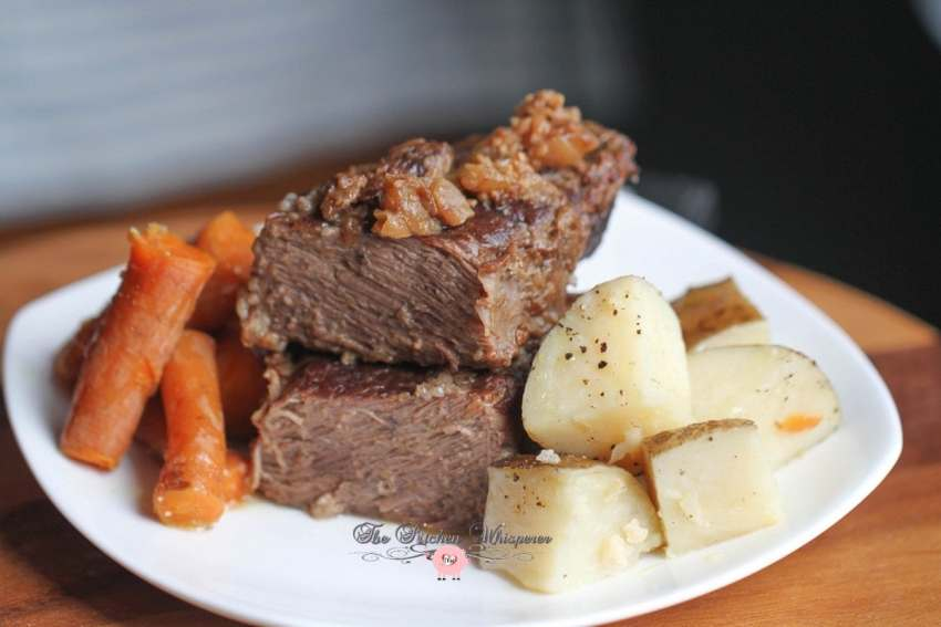 Pressure Cooker Beef Short Ribs Taters Carrots6