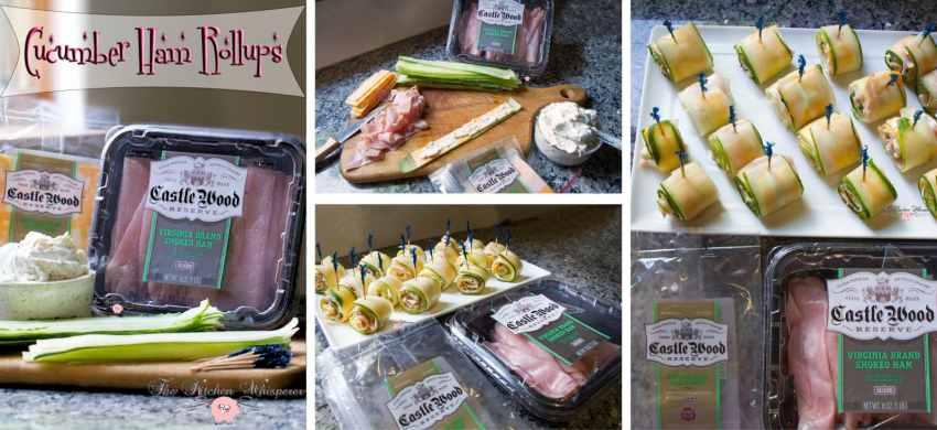 Cucumber Ham Rollsups Collage1