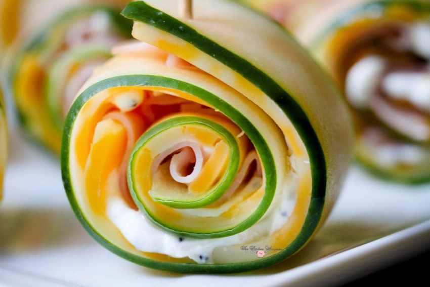 Cucumber Ham Rollsups10