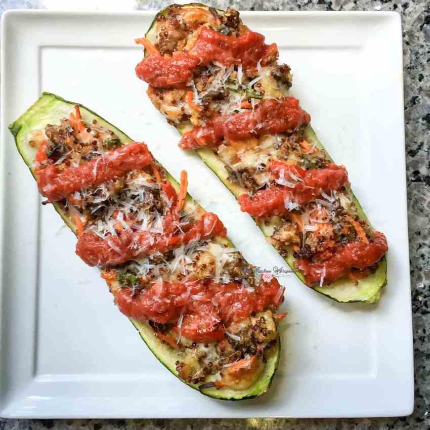 Italian Veggie Stuffed Zucchini Boats4
