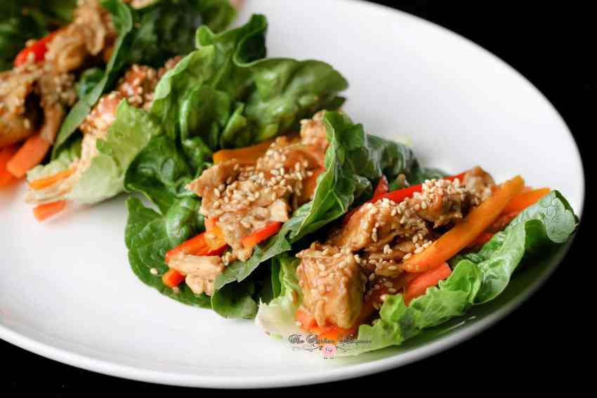 Thai Chicken Lettuce Wraps12