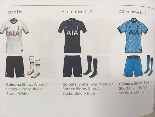 Nike 2019-20 Tottenham Third Kit Leaked