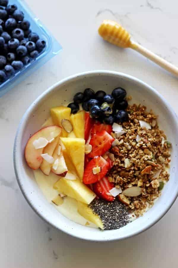 15 Minute Stovetop Granola - simple ingredients put in a frying pan and toasted for 15 minutes...this is the perfect base to make it your own! | thekiwicountrygirl.com