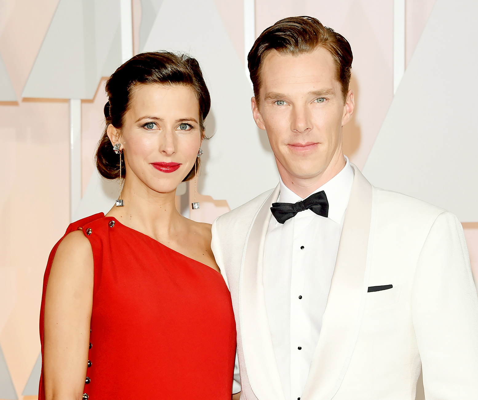 Sophie Hunter and Benedict Cumberbatch have their wedding at the Church of St. Peter and St. Paul in Mottistone, England