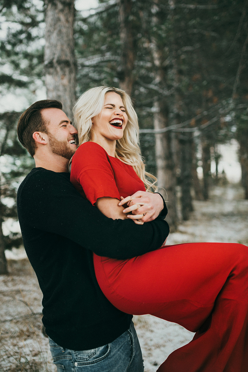 See Witney Carsons Winter Wonderland Engagement Photos