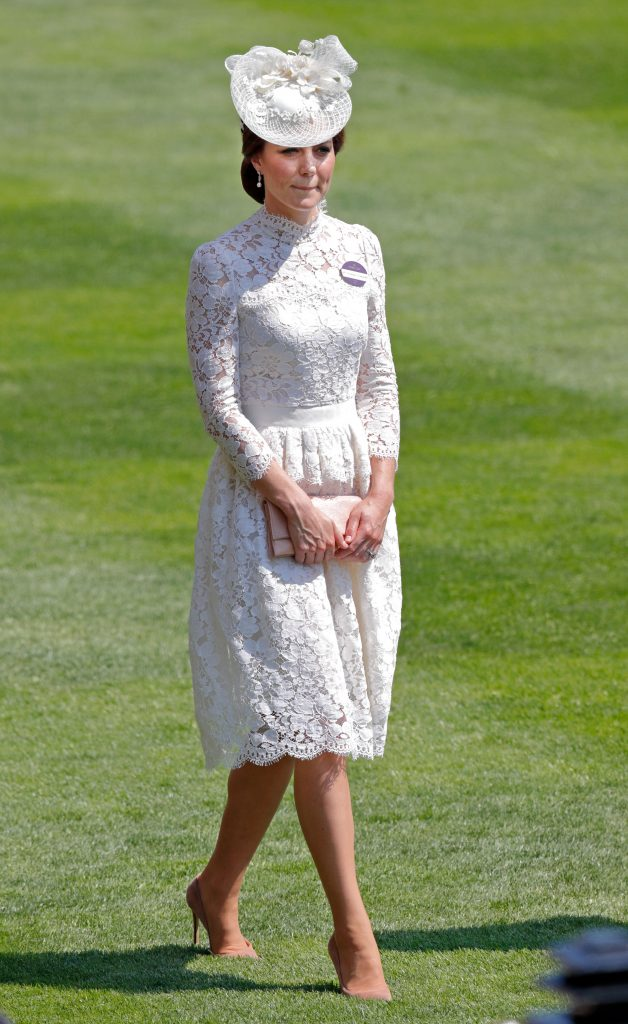 Kate Middletons Royal Ascot Dress Resembles Her Wedding Gown