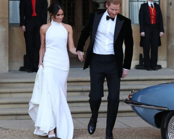 Meghan Markle Steps Out in Her Second Wedding Dress
