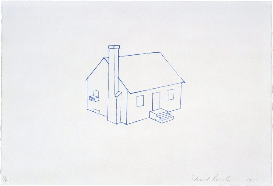 Little Connecticut Sleeping House by Ed Ruscha on Paddle8_