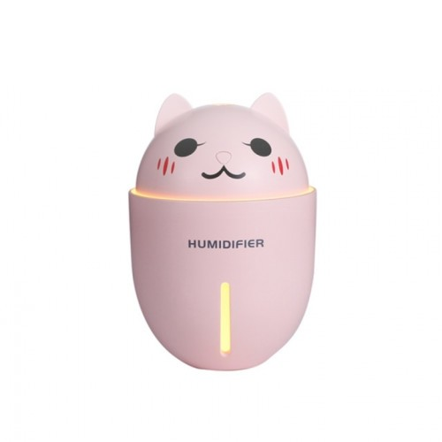 Air Humidifier Ultra-Quite Mini LED Light USB Fan Aroma Humidificador