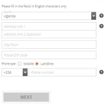 address line 1 generator