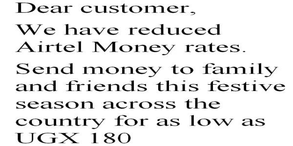 Airtel Uganda Reduces Mobile Money Sending Rates