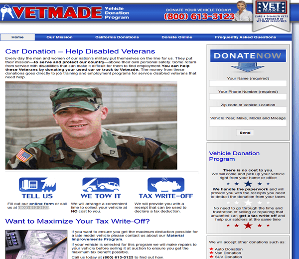 Cars4disabledvets.org