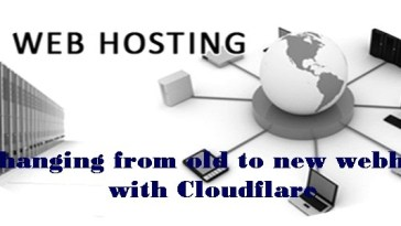 Changing from old to new webhost with Cloudflare