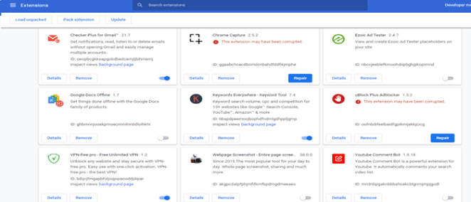 Google Chrome Extension crash on startup win7