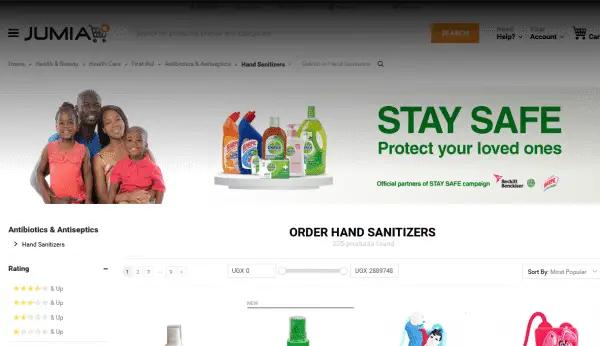 Buy hand sanitizers on Jumia..ug