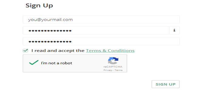 Create an account  for vcc