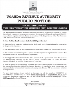 URA Tax Identification Numbers (Tin) For Employees