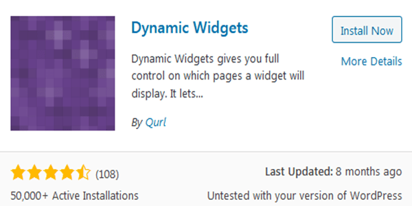 Hide widgets on specific wordpress pages