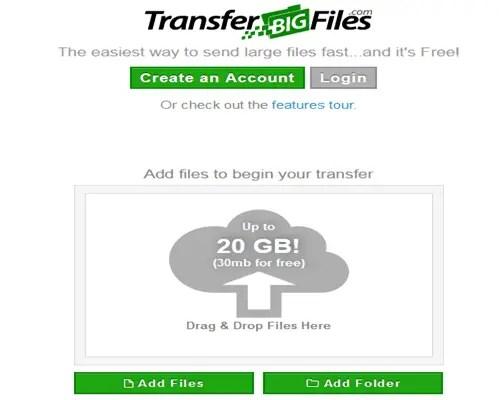 Send large files in Yahoomail via Drop send