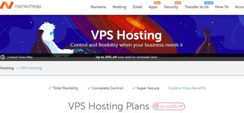 Namecheap Cheap VPS Hosting Service