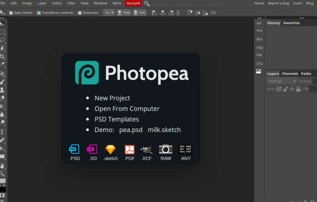 Photopea review, photoshop alternative