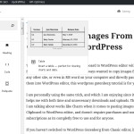 Paste Images From Clipboard to WordPress Editor