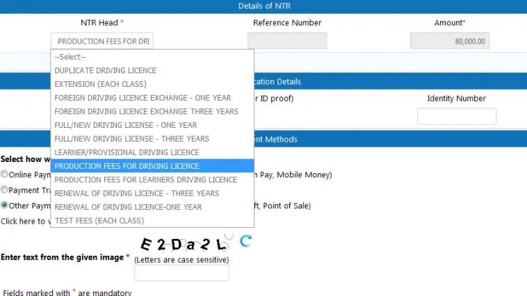 Uganda drivers license permit fees