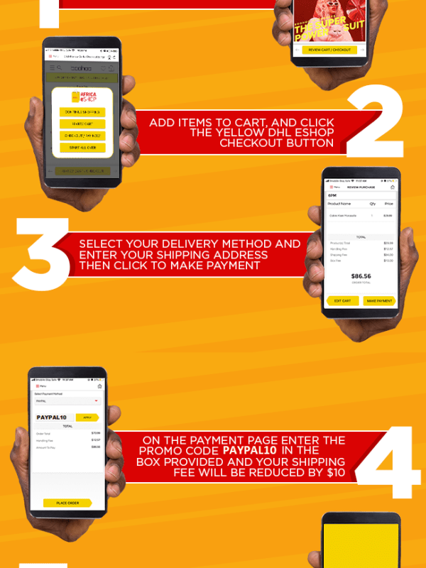 How to shop on DHL eSHOP