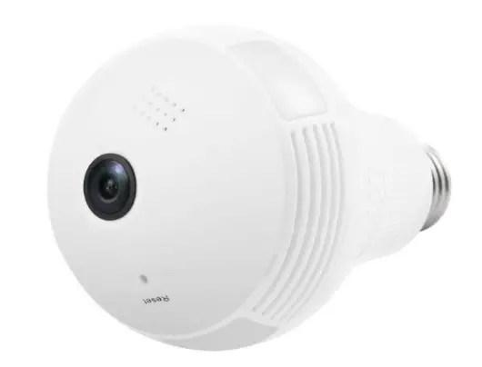 Generic Bulb Light Camera CCTV Home Security IP WiFi Wireless VR 360 Camera