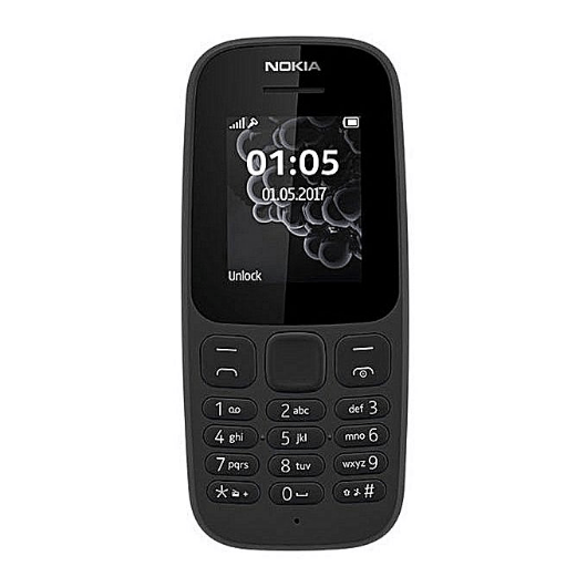 Nokia 105 DS 1.8'' Dual Sim, FM Radio, Torch light, 800MAH Battery