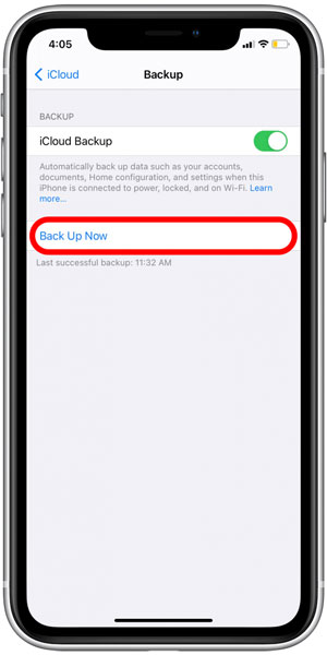 Back Up Old Phone Data for IOS