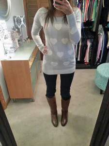 Express Hearts Sweater