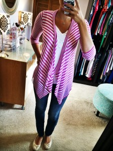 Tina Striped Open Cardigan