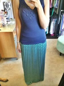Garland Geo Print Maxi Skirt