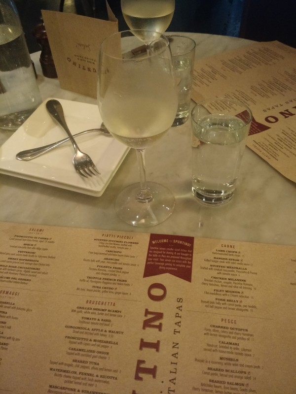Spuntino Wine Bar Menu