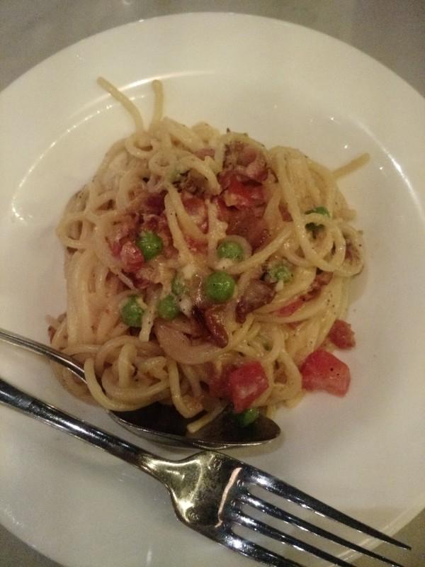 Spaghetti all Carbonara Spuntino Wine Bar