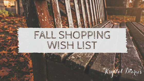 Fall ShoppingWish list