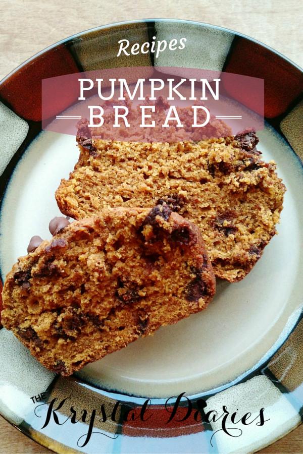 Pumpkin Bread - The Krystal Diaries