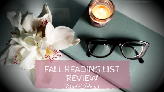 Fall Reading List Review - The Krystal Diaries