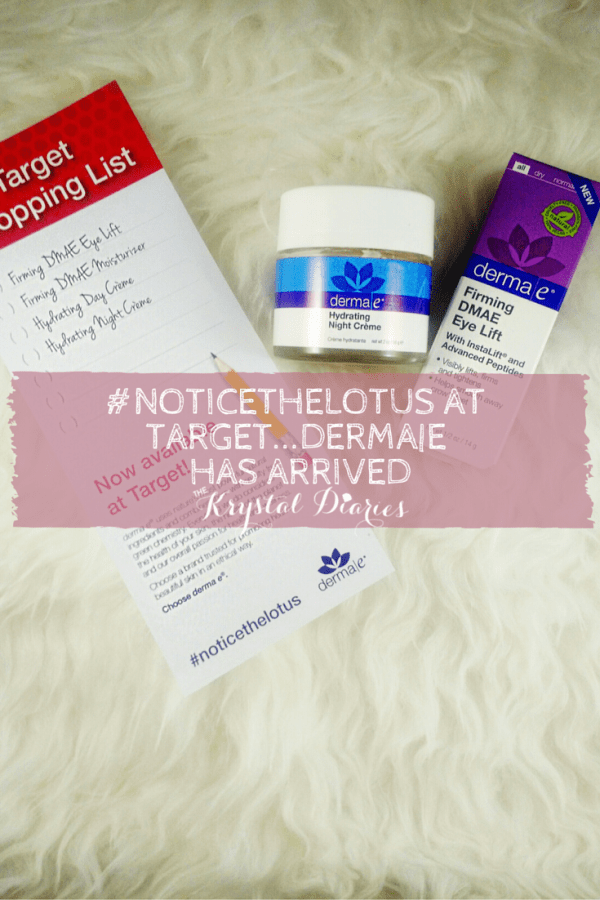 #noticethelotus at target...derma e has arrived