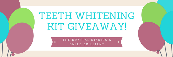 Smile Brilliant Teeth Whitening Giveaway // The Krystal Diaries